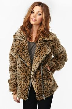 faux fur leopard for a chilly night