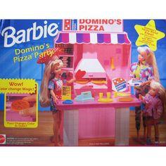 Barbie Domino's Pizza Party Playset by Mattel, 1993 Barbie 80s, Barbie Movies, Barbie Life, Barbie Dream, Vintage Barbie Dolls, Barbie House, Barbie World, Barbie And Ken, Vintage Toys
