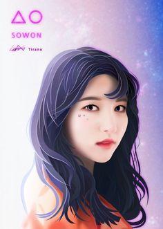 South Korean Girls, Korean Girl Groups, Gfriend Sowon, G Friend, Kpop Fanart, Idol, Kawaii, Fan Art, Anime