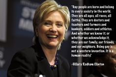 We need our allies to stand with us. Thank you Hillary! Hillary Rodham Clinton #lgbt quote.