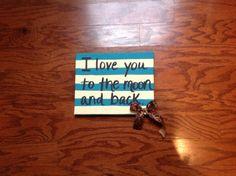 DIY Canvas Art  Stripes. Turquoise. Leopard Print. Favorite Quote.