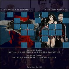 """20 dias para Batman vs Superman: A Origem da Justiça // 21 days until #BatmanvSuperman!  #TeamSuperman #BvS #HenryCavill #superman #aorigemdajustiça…"""