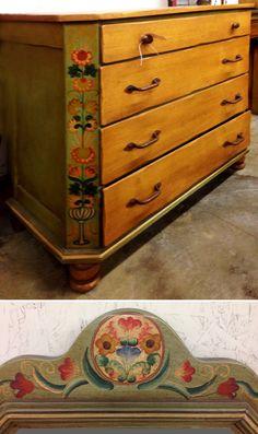Monterey Painted Dresser With Matching Mirror Found On Ebay