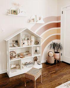 Kids Bedroom, Bedroom Wall, Childrens Bedroom Ideas, Rainbow Girls Bedroom, Baby Girl Bedroom Ideas, Childrens Wall Murals, Rainbow Nursery Decor, Kids Room Murals, Girls Bedroom Furniture