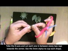 McGill Paper Blossoms Tutorial: How to make a sunflower