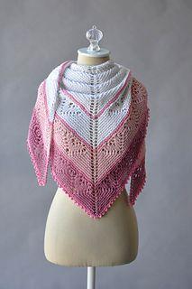 Free Pattern - the Be Mine Shawl in Fibra Natura Papyrus is a heartwarming knit treat.