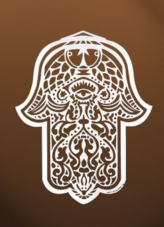 hamsa: Depicting the open right hand, an image recognized and used as a sign of protection in many societies throughout history, the hamsa is believed to provide defense against the evil eye. The symbol predates Christianity and Islam.