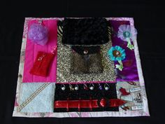 Girlie Girl Glam Fidget Quilt Tactile  Bright by EndearingDignite, $40.00 little less expensive