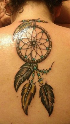 ankle tattoo idea , but different types of feathers & beads ; so match the journeys of my life . .