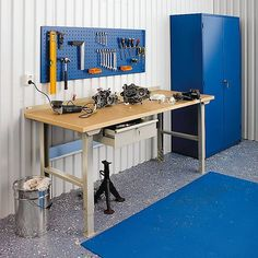 A wide range of heavy duty workbenches are available in the market for usage in workshops. These workbenches can be purchased in a variety of sizes and choices of additional tool panels and drawers.