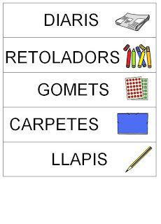 Trencaclosques: Cartells material