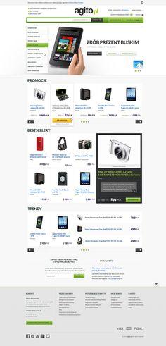 Agito.pl by Michal Kolasa #ecommerce #webdesign