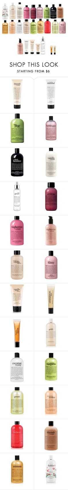 """""""Bath & Shower Products"""" by acid-affliction ❤ liked on Polyvore featuring beauty and philosophy"""