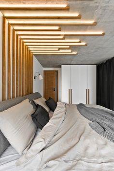 Very modern loft design in the Scandinavian style. - Scandinavian Design Trends - Have Best Home Decor ! Cozy Bedroom, Home Decor Bedroom, Modern Bedroom, Master Bedroom, Bedroom Ideas, Bedroom Inspiration, Bedroom Furniture, Headboard Ideas, Bedroom Loft