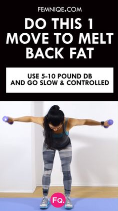 How To Get Rid of Back Fat Minute Workout With this back fat exercise, not only will you work your upper and lower back but also your arms and shoulders. Do this back fat workout 3 times a week and watch how you transform upper body. Checkout the entire Life Fitness, Sport Fitness, Body Fitness, Fitness Motivation, Fitness Logo, Female Fitness, Fitness Diet, Fitness Models, Personal Fitness