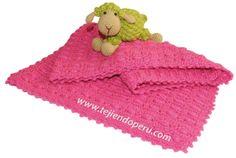 Tutorial: manta o cobija con motitas tejida a crochet1