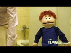 Elliot learns the hard way about stall peeing in this episode of Elliot's Toilet Training Adventures; truly defecation education.