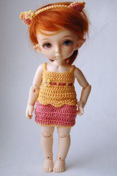 Neko Faerie - Grapefruit (Pukifee / Lati Yellow crochet dress w headband)