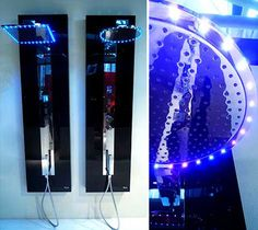Touchscreen Shower allows you to control water consumption and temperature! And of course the lights!