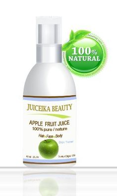 Juiceika Apple Fruit Juice 100% Pure/ Natural Juice for Face, Hair and Body 2 oz- 60 ml by Botanical Beauty. $14.99. Soothes skin. Revitalizes and calms skin.. Facial skin Toner 100% Juice.. Repairs dry, damaged skin. Protect skin from free radical damage.. Enhances vitality. Provides antioxidant protection. 100 % Pure,100% natural, Chemical Free, A Little Goes a Long Way, Absorbs Quickly. Juiceika  Beauty  Apple Fruit  Juice is 100% pure, natural juice from fres...