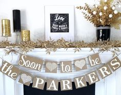 Engagement Banner, Soon to Be Banner, Engagement Party Decor, Rustic, Engagement Party Ideas, Wedding Reception, Couple Shower