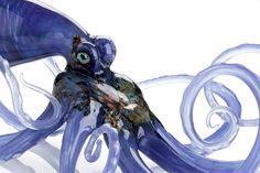Octopi Purple by Jennifer UmphressMore Pins Like This At FOSTERGINGER @ Pinterest