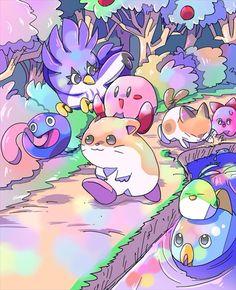 People star by Tanaki / Kirby & friends / Nintendo / fanart