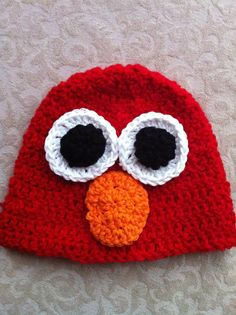 super cute elmo crochet hat!