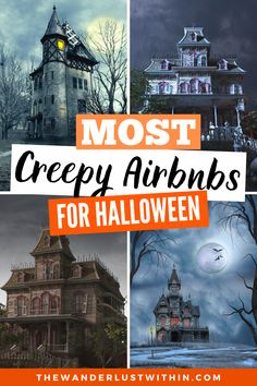 Spending the night in a haunted house is always unnerving. But for the brave, there are plenty of haunted Airbnbs you can rent for Halloween (aff link) | haunted airbnb | halloween getaways | best halloween travel destinations | best halloween destinations travel | halloween destinations america | haunted places in america travel | haunted places to travel | haunted travel destinations america | best halloween trips | halloween trip ideas | haunted trips hotels in america | real haunted… Real Haunted Houses, Haunted Places, Us Travel Destinations, Places To Travel, Canada Travel, Travel Usa, Places In America, United States Travel, Travel Couple