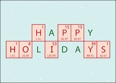 Looking for a catalyst to increased sales & profits in the new year? Send your clients personalized chemical engineer holiday cards! Featuring a festive Happy Holidays periodic table and snowflake backdrop, our cards are easily customized online with many free options & upgrades to choose from.