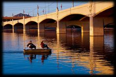 Tempe Town Lake is located in downtown Tempe, AZ adjacent to Tempe Beach Park.
