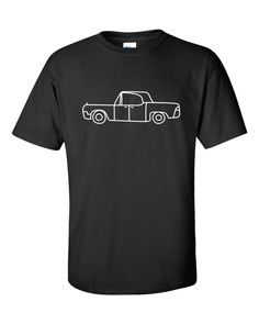 07358e59 Black with White 66 to 69 Lincoln Continental T-Shirt The A Team, Lincoln