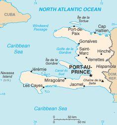 Mapa República do Haiti // Haiti map ◆Haiti – Wikipédia http://pt.wikipedia.org/wiki/Haiti #Haiti
