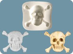 Skull and Crossbones Mold by FPC Sugarcraft $15