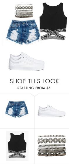 """Untitled #51"" by evelinefeitosaneres on Polyvore featuring Vans and Charlotte Russe"