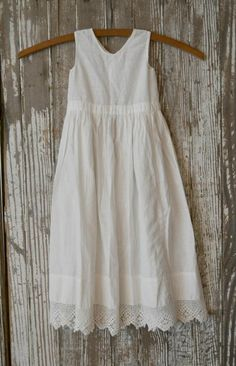 Simple white cotton dress