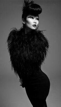Fashion pictures or video of Gwen Lu: Black Swan by Jeff Tse; in the fashion photography channel 'Advertising'. The Black Swan, Black White Photos, Black And White Photography, White Art, Fashion Fotografie, Style Noir, Vogue, White Fashion, Classy Fashion
