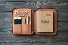 iPad mini Leather case. Zipper leather folio. by inSidegift More