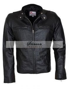 Black Leather Jacket Men | Fight club, Leather jackets and Leather ...