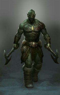 Blood spattered orc (Skyrim)
