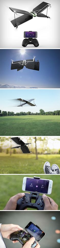 When you can't choose between a drone and a plane, get both! TheParrot's Swing droneis a pretty nifty piece of design and engineering. It looks like an unsuspecting quadcopter with four black polystyrene wings, but these wings help it turn into a plane, getting it to fly at speeds much higher than conventional drones. BUY NOW