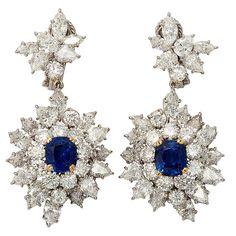 HARRY WINSTON Sapphire Diamond Drops