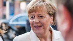 Kanzlerin Merkel bei der Feier zum Tag der Deutschen Einheit in Frankfurt