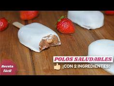 Helado SALUDABLE de chocolate ¡SIN CHOCOLATE! 2 ingredientes - Magnum veganos de algarroba y plátano - YouTube
