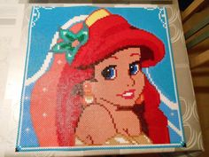 Disney Princess Ariel hama perler beads by  hardy8676 - Pattern: http://www.pinterest.com/pin/374291419003359325/