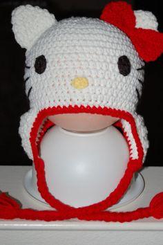 Kitty Crochet Beanie Hat