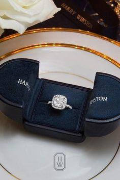 harry winston halo cushion cut engagement rings