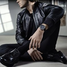Beautiful in blue: Chemin des Tourelles Automatic Chronograph Bucherer BLUE Le Locle, Chronograph, New Look, Leather Jacket, Elegant, Model, Blue, Beautiful, Collection