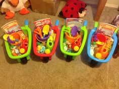 Easter barrows for toddlers. They have real baskets too for the egg hunt. Costco has them!