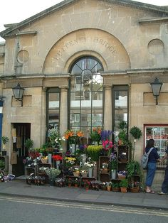 Flower Shop on Bridge in Bath uk